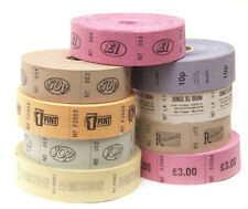 4 ROLLS OF 1000 TICKETS VARIOUS DESIGNS SECURITY NUMBERED RAFFLE ROLL ENTRY
