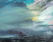 Poster / Leinwandbild HMS Hood 1941, 2014, oil on canvas - V. Alexander Booth