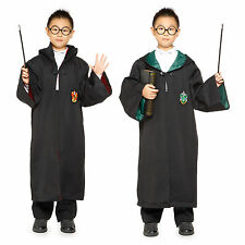 Tenue Deguisement Robe Cape a Capuche Harry Potter Gryffindor Slytherin 8-16ans