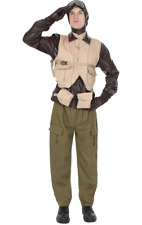 Mens World War II WW2 Fighter Pilot 1940s Aviator Fancy Dress Costume