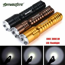 Zoomable Focus 3000 Lumens 3 Modes CREE XML T6 LED 18650 Flashlight Torch Lamp