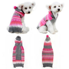 Cute Dog Knit Sweater Christmas Striped Pet Puppy Cat Clothes Clothing Coat ZX