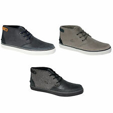 Lacoste Suede Chukka Mens Black Navy Blue Grey Shoes Clavel 17 19 D108