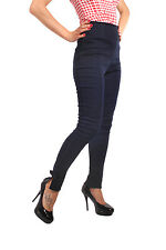 Retro Denim Rockabilly High Waisted Zigarette Hose Skinny Jeans