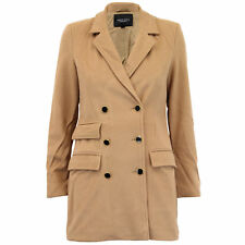 Ladies Jacket Brave Soul Womens Coats Wool Mix Double Breasted Lined Winter New