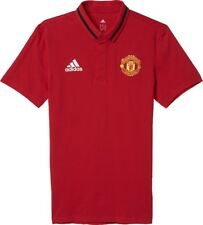 adidas Manchester United FC Uomo Official Polo Piqué Maglietta MUFC Football