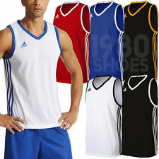 adidas Men's Commander Basketball Vest Jersey Team Tank Kit Training Gym Sport
