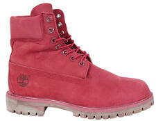Timberland AF 6 Inch Premium Mens Suede Leather Red Boots A1149 D37