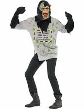 Mens Scary Animal Mutant Monkey Halloween Fancy Dress Outfit Costume