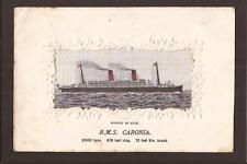 """R.M.S.""""Caronia"""" Woven Silk. PAQUEBOT. Posted at Sea 1905."""