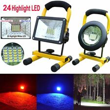 30W 24 LED Portable Rechargeable Flood Light Spot Work Camping Fishing USB Lamp