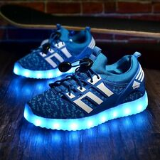 Fashion Kids Sneakers Children's USB Charging Luminous Lighted Sneakers Boy/Girl