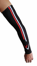Velo Vinyls Removable Arm Warmers - Cycling - Black/Red