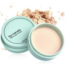 3 Color Translucent Pressed Powder with Puff Smooth Face Makeup Foundation Water