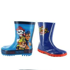 Boys Paw Patrol Blue Welly Wellington Boots Shoe Sizes 6-12 Wellies 2 Designs