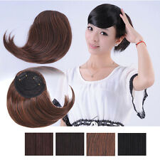 Sexy Women Girl Synthetic Oblique Bangs Fringe Hair Pieces Extensions Clip in B2