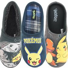 Mens Pokemon Slipper Mule And Full Cushioned Novelty Slippers Shoe Sizes 7-12