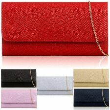 Women Glitter Clutch Prom Synthetic Evening Bridal Wedding Bag Ladies Baguette