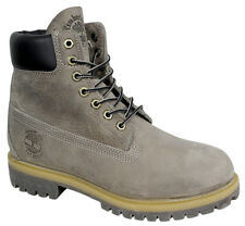 Timberland 6 Inch Basic Mens Boots Grey Rugged Leather Casual Lace Up 9663B T4
