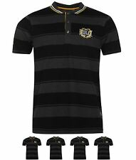 SPORTIVO Everlast Yarn Dye Bold Stripe Polo Mens Black/Char