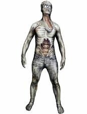 Mens Scream Zombie Morphsuit Halloween Outfit Fancy Dress Costume