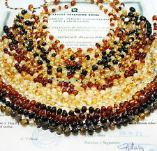 100 % Genuine Baltic Amber Baby Child Necklace Baroque Beads Many Colors