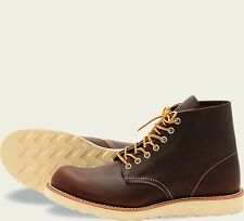 Red Wing  Mens Boots 8196 Round Toe Heritage Work Briar Oil Slick -Brown