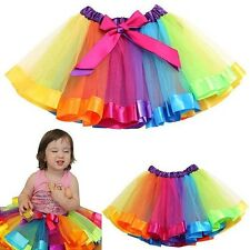 Princesse Style Bébé Fille Rainbow Kids Tulle Jupe Tutu Jupon Robe Exotique