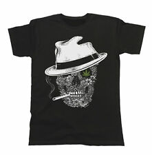 Ganja Gangster Mens/Ladies T-Shirt Unisex Fit Funny Skull Hipster Cannabis