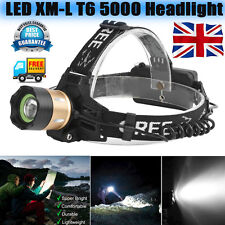 5000LM XM-L T6 LED Zoomable Headlamp Headlight Taschenlamp 18650 Batterie