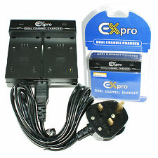 DUAL BASE Travel Battery Charger for Canon FS36, FS37, FS100