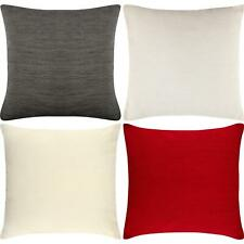 4 x Luxury Plain Chenille Cushion Cover Soft Covers 43 x43cm, 17x17""