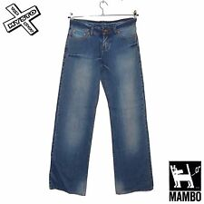 MAMBO GODDESS 'LAZY JEAN' WOMENS DENIM TROUSERS VINTAGE BLUE UK 8 BNWT RRP £50