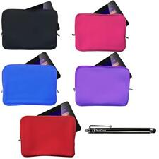 """Neoprene Sleeve Case Cover Soft Zip Pouch for 8"""" 10.1"""" 11.6"""" Tablet PC + Stylus"""
