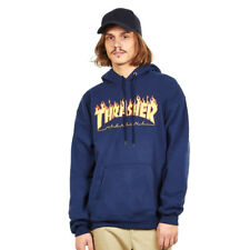 Thrasher - Flame Hoodie Navy Kapuzenpullover Hooded Sweater