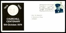 October 19, 1974 Churchill Centenary First Day Cover  Uk Illustrated