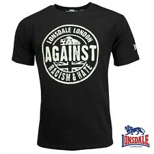 Lonsdale Herren T-Shirt Against Racism Football London Men Tee Shirt S bis 3XL