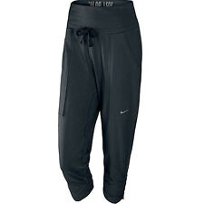 Nike Womens Dri-Fit Black Capri Gym Fitness Pants 450745 010 U42B