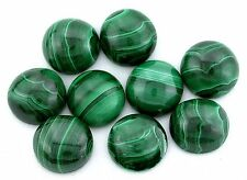 ONE 12mm Round AAA Quality Natural African Malachite Cabochon Gem Gemstone 6056