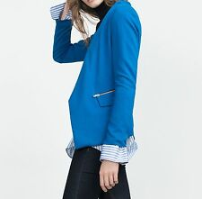 ZARA NEW ROYAL BLAZER JACKET WITH ZIPS.SIZE S M  8 10  UK SOLD OUT!