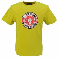 Wigan Casino Yellow 100% Cotton Northern Soul Logo T Shirt