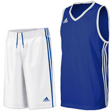 adidas Boy's Commander Basketball Kit Jersey & Shorts Training Set - Blue White
