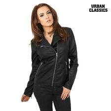 Urban Classics ONOREVOLI Donna Giacca Motociclista in similpelle XS S M L XL