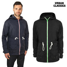 URBAN CLASSICS Hombre windbreaker larga nailon Chaqueta Parka Coat S hasta 3xl