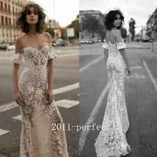 2017 Summer Sexy Mermaid Wedding Dresses Lace Off Shoulder Bridal Gowns Custom