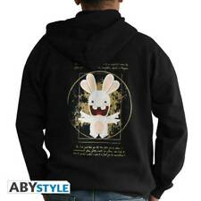 LAPINS CRETINS - Sweat - Raving Rabbit Da Vinci man Black *