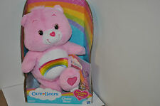 CARE BEARS CHEER BEAR STUFFED TOY WITH BONUS DVD *NEW IN BOX*