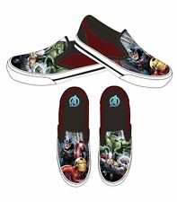 Boys Avengers Canvas Sneakers Without Lace Trainers Shoes Uk Size 9-2