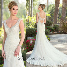 2017 Elegant V Neck Wedding Dresses Beading Lace Sleeveless  Bridal Gowns Custom