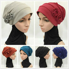 Women Hats Muslim Hijab Islamic Scarf One Piece Caps Amira Flower Headwear Hijab